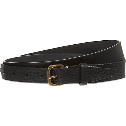 D SQUARED Slim leather belt (Black