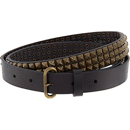 D SQUARED Studded belt (Black