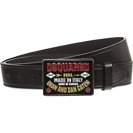 D SQUARED Dean and Dan buckle belt (Black