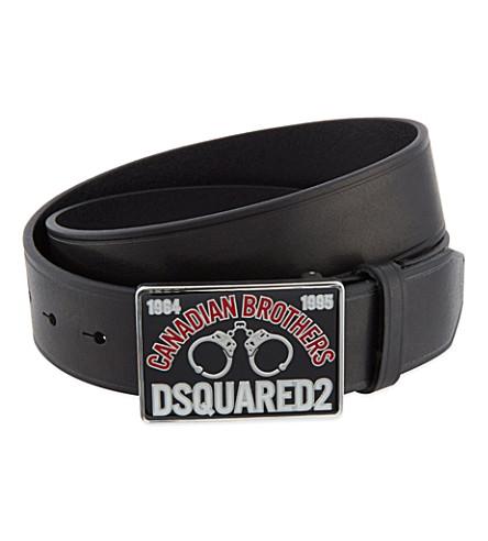 D SQUARED Handcuff buckle belt (Black