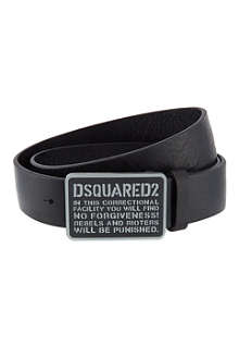 D SQUARED Jail facility buckle belt