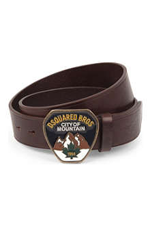 D SQUARED City of Mountain leather belt