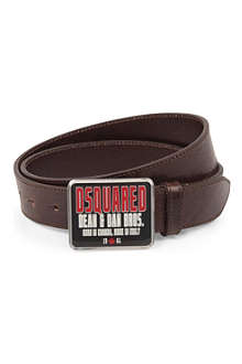 D SQUARED Bros leather belt