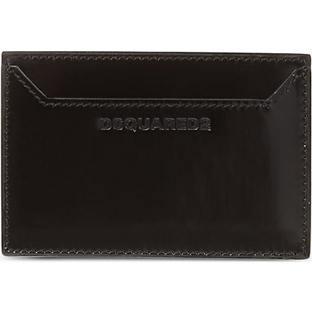 D SQUARED High shine leather card holder (Black
