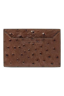 D SQUARED Ostrich-embossed card holder