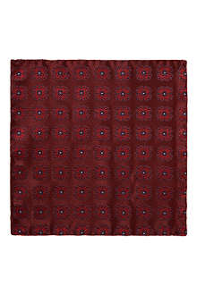 D SQUARED Red paisley pocket square