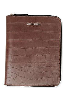 D SQUARED Croc-embossed iPad case