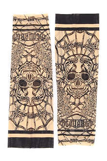 D SQUARED Skull and web-print tattoo sleeves