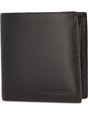 D SQUARED Leather billfold wallet