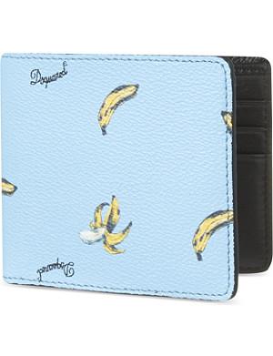D SQUARED Banana print wallet