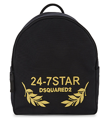 DSQUARED2 D2 bag backpack 24-7 star (Nero