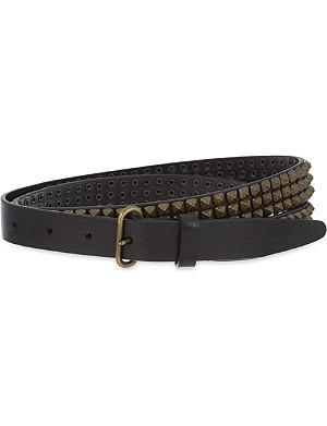D SQUARED Studded leather belt