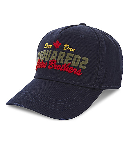 DSQUARED2 Embroidered cap (Navy