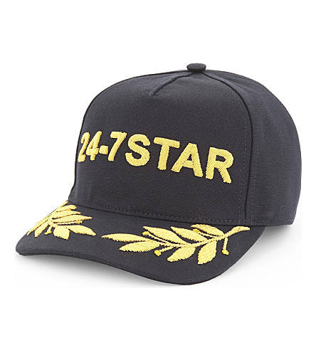 DSQUARED2 24-7 Star cotton snapback cap (Black
