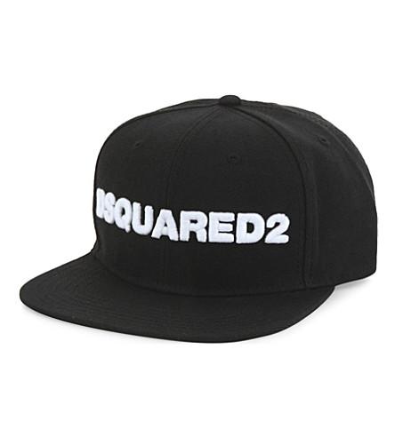 DSQUARED2 Large logo snapback cap (Black