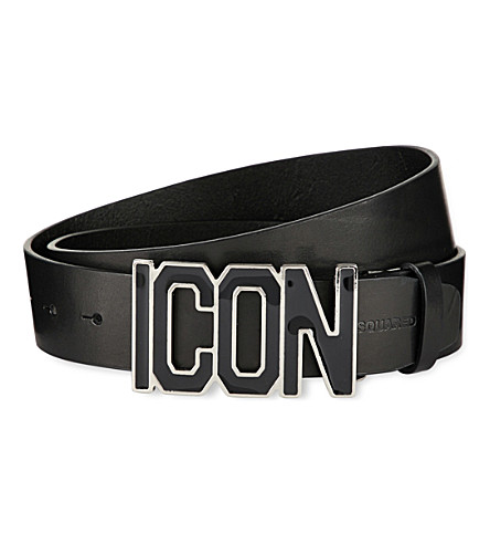 DSQUARED2 Icon leather belt (Black