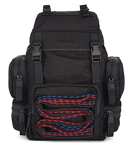 DSQUARED2 Brand embossed backpack (Nero