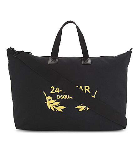 DSQUARED2 24-7 STAR duffle bag (Black