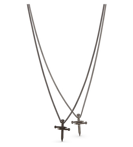 DSQUARED2 Double cross necklace (Rutenio