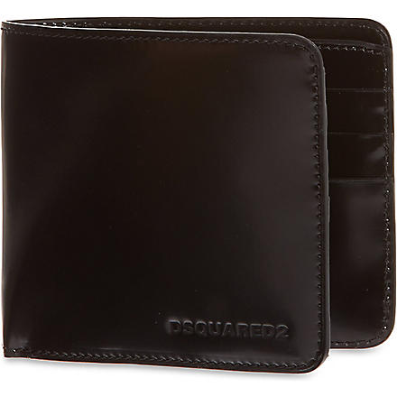 D SQUARED High-shine leather wallet (Black