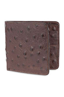 D SQUARED Ostrich leather wallet