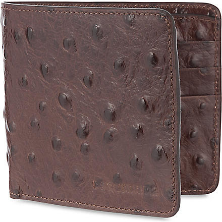 D SQUARED Ostrich leather wallet (Brown