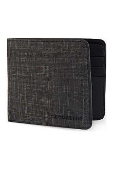 D SQUARED Distressed leather wallet