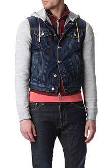 D SQUARED Denim and jersey jacket