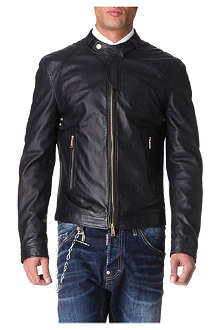 D SQUARED Perforated leather jacket