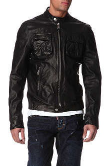 D SQUARED Leather biker jacket