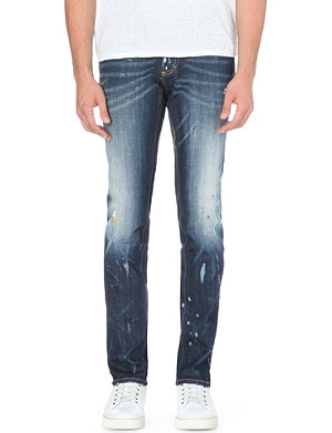 D SQUARED Gold Splatter slim-fit tapered jeans