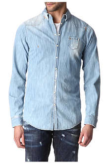 D SQUARED Western paint-splattered shirt