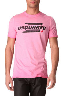 D SQUARED Logo-printed washed t-shirt