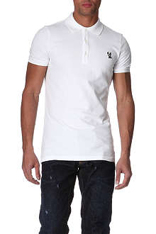D SQUARED Dog appliquéd polo shirt