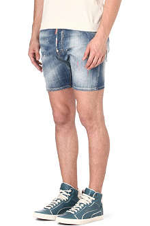 D SQUARED Neon-detail denim shorts