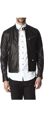 D SQUARED Quilted leather biker jacket
