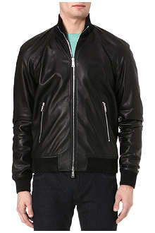 D SQUARED Leather bomber jacket