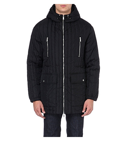 D SQUARED Hooded padded coat (Black