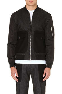 D SQUARED Contrast-sleeved bomber jacket