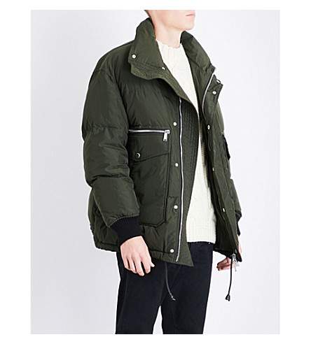 DSQUARED2 Pocket-detailed quilted down and feather-blend jacket (Green