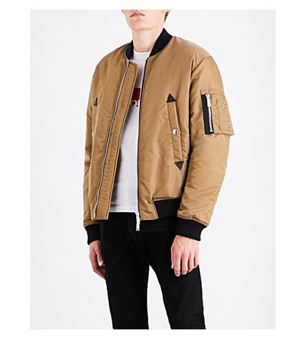DSQUARED2 Padded shell bomber jacket (Camel