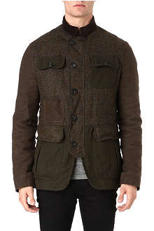 D SQUARED Tweed panelled field jacket