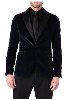 D SQUARED Single-breasted glitter velvet tuxedo jacket