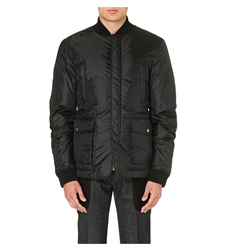 D SQUARED Checked quilted jacket (Black