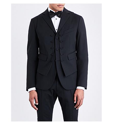DSQUARED2 Vest-detailed regular-fit wool jacket (Black