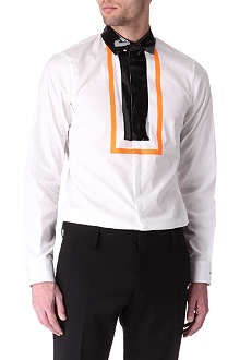 D SQUARED Fluorescent and patent detail shirt