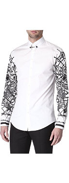 D SQUARED Printed-sleeve shirt