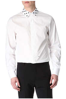 D SQUARED Studded-collar slim-fit shirt