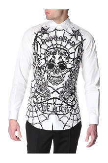 D SQUARED Tattooed panel shirt