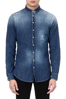 D SQUARED Washed denim shirt